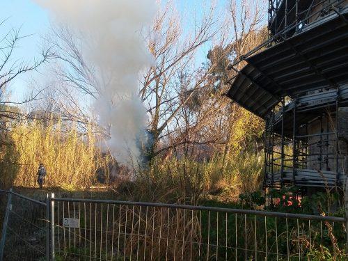 Gli incendi a Ponte Lucano non sono vietati da ordinanza